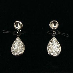 Mary Kay Pierced Rhinestone Earrings w/ Gift Box